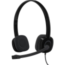 Logitech H151 Stereo-Headset inklusive Bedienlement, Kabelgebunden, schwarz